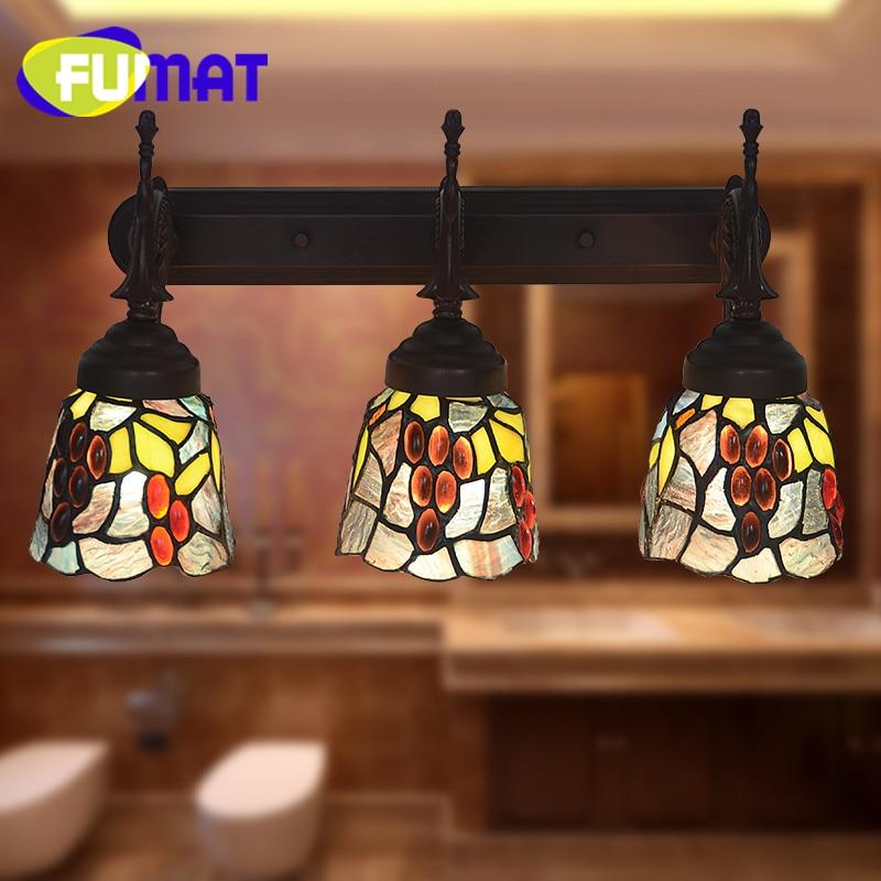 FUMAT Faróis Espelho Lâmpada de Parede Lâmpadas lustre Restaurante Lâmpada Quarto Decoração Do Banheiro Jardim Rosa levou luz para Casa