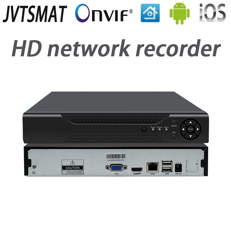 Jvtsmart H.265 4CH 8CH 16CH P2P 4mp 1080 P Rede Gravador de Vídeo NVR 5mp Onvif cctv HD 4 Canal 8 canal Canal 16 XMeye NVR