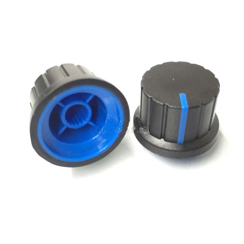 Perilla de potenciómetro 500 unids/lote 148 azul 24 tipos de perilla de volumen/tapa de perilla 24*15MM * 6mm envío gratis