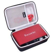 LTGEM EVA Hard Travel Case for Focusrite Scarlett Solo 2i2 (2nd Gen) USB Audio Interface