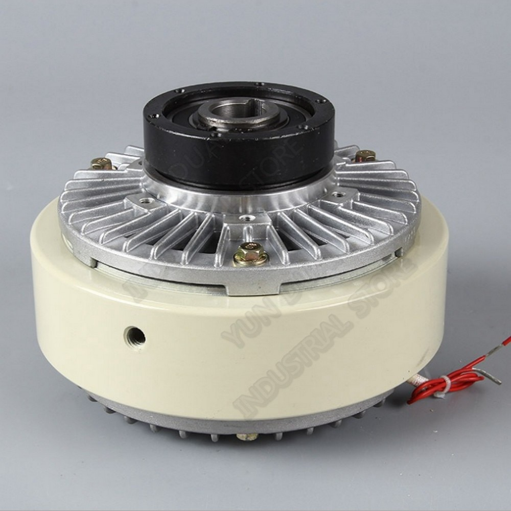 Hollow Shaft Magnetic Powder Clutch 10kg 100Nm DC24V Winding Brake for Tension Control Bagging Printing Packaging Dyeing Machine