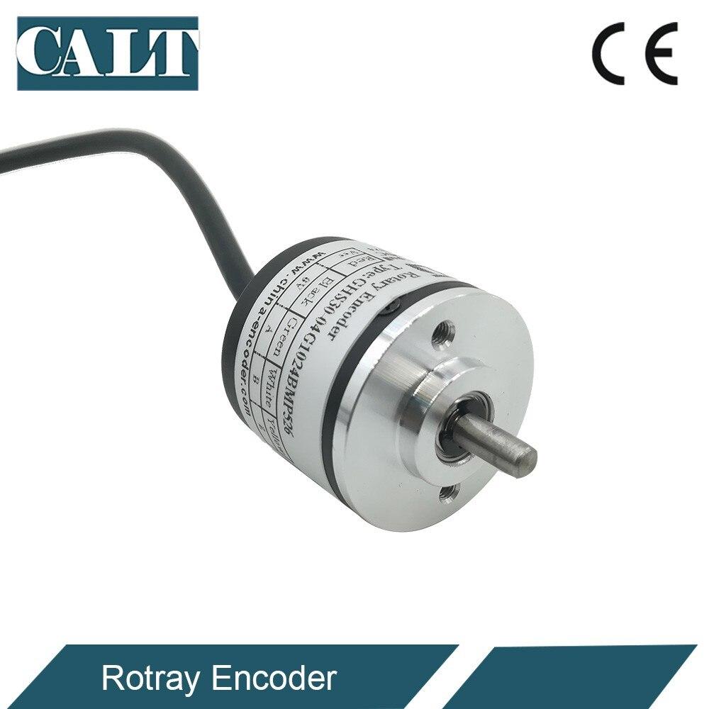 CALT más barato de China óptico codificador rotatorio Incremental 30mm diámetro exterior del eje 4mm salida NPN 100, 500, 1000, 1024 PPR GHS30