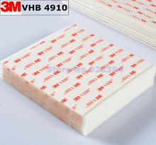 50 pcs/lot 3 M VHB 4910 Double face adhésif acrylique mousse bande de montage bande claire 100mm x 100mm x 1mm