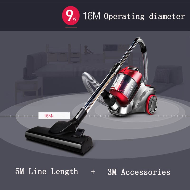 C3-L148B Vacuum cleaner household handheld ultra-quiet powerful mini Vacuum cleaning machine with divide mite function 220V enlarge