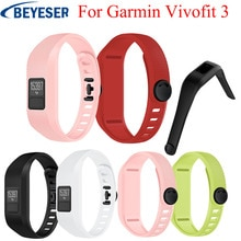 Soft Silicone strap for Garmin Vivofit 3 Band bracelet sport wrist watch belt Rubber watchband For Garmin Vivofit3 Wirstband str