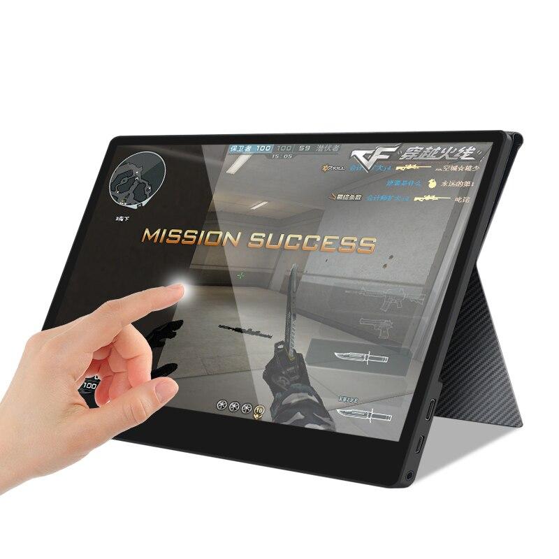 Pantalla táctil Monitor portátil 15,6 pulgadas tipo-c Full HD 1080 IPS USB C Pantalla de altavoces Dual integrada