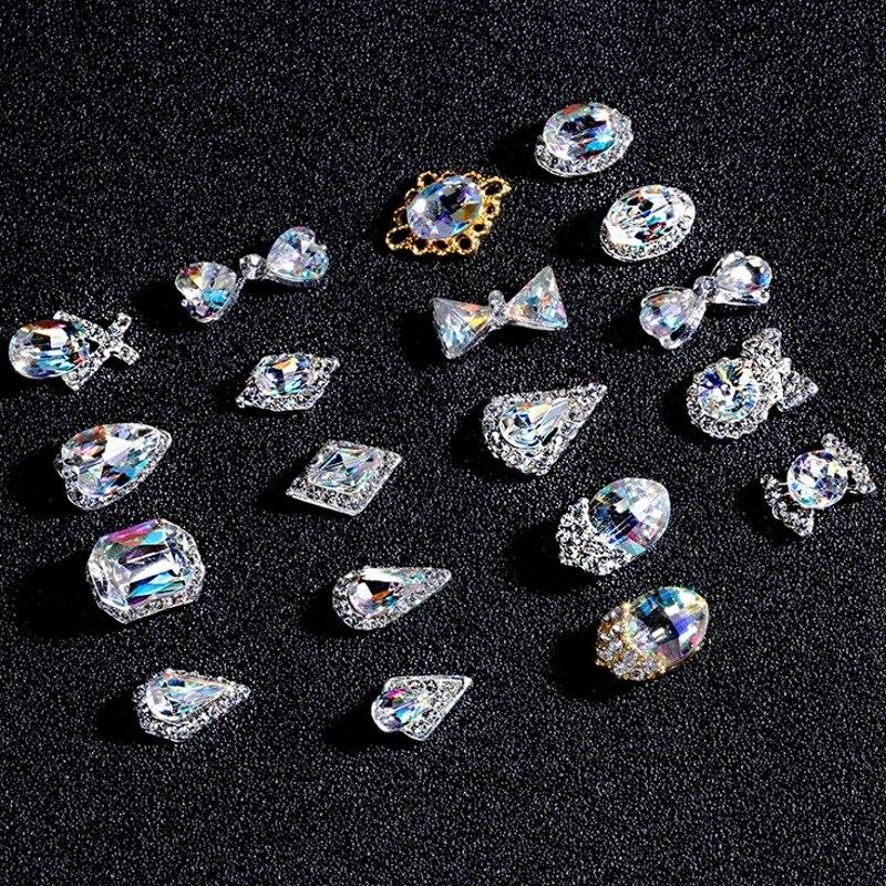 AliExpress - 10pcs Water Drop/Heart/Bow Shape Nail Rhinestones 6x13mm/8*13mm Crystal Glass Stones DIY Manicure Nail Art Decorations 3074-3093