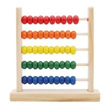 Mini juguetes de madera Abacus los niños pronto juguete para aprender matemáticas números contando calcular abalorios de ábaco juguete educativo Montessori