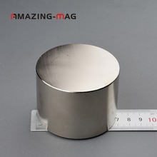 1 stück Super Leistungsstarke Neodym Runde Magnet D70 * 50mm Starke Pull-kraft Disc Magnet N38 Rare earth ndFeB Labor DIY Wissenschaft Prüfung