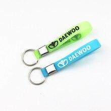 Nouveau porte-clés lumineux en Silicone pour voiture porte-clés autocollant de voiture pour Daewoo Espero Nexia Matiz Lanos porte-clés accessoires