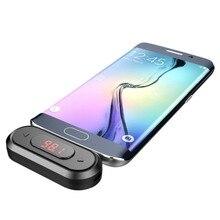 Doosl FM transmetteur appel mains libres sans fil Audio Radio adaptateur émetteur 3.5mm prise pour iPhone IOS Android voiture fer de lance