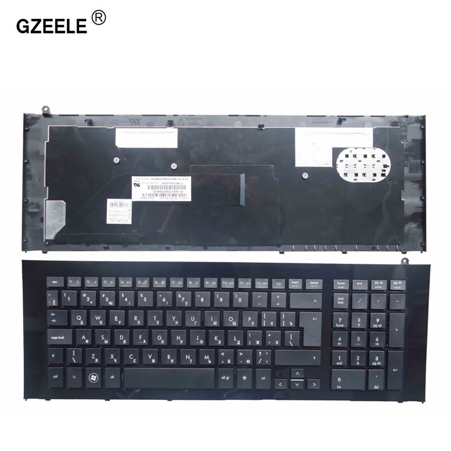 GZEELE-لوحة مفاتيح الكمبيوتر المحمول الروسية ، لجهاز HP ProBook 4720 4720S ، تخطيط RU بإطار ، أسود ، 90.4GL07.S0R ، V112130BS1