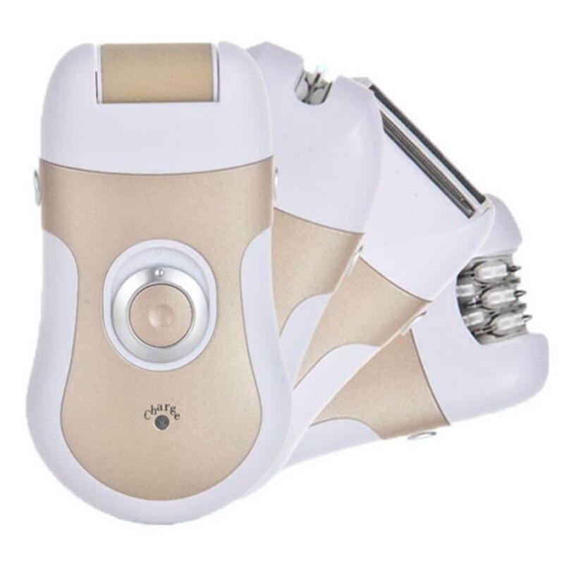 Depiladora eléctrica 4in1 para mujer, cuchilla de afeitar femenina, recortadora para mujer, depilación eléctrica, removedor de vello facial recargable, depilatorio