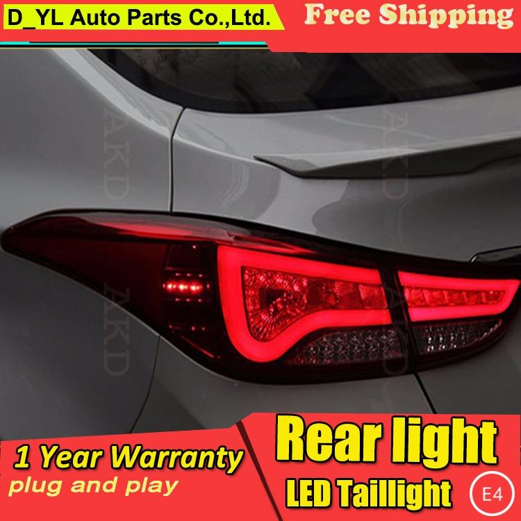 D_YL diseño de coche para luces traseras para Hyundai Elantra BMW diseño nuevo Elantra luz trasera led lámpara trasera DRL + freno + Parque + luz led de señal