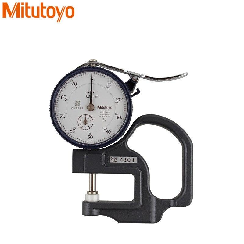 Mitutoyo-مقياس السُمك للقرص من 0 إلى 10 مللي متر/0.01 ، مقاوم للصدمات ، 7301 ، مؤشر الطلب ، أدوات قياس سندان مسطحة