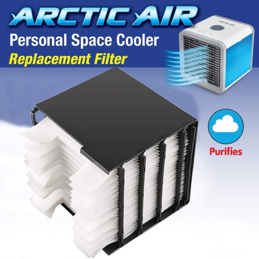 24PCS Replacement Filter Arctic Air Cooler Personal Space Quick Way To Cool Laptop Cooler Portable Air Conditioner Fan Filter