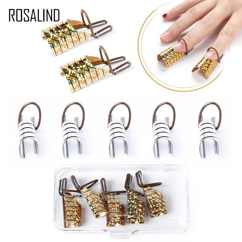 ROSALIND 5 unids/caja formas para la extensión de uñas para la herramienta de laca de Gel dedo uñas arte formas ajustables para la construcción