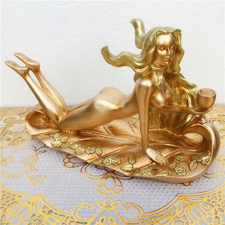 Cremalheira do Vinho Sala de Estar Decoração Escultura Simples Moderna Retro Criativo nu