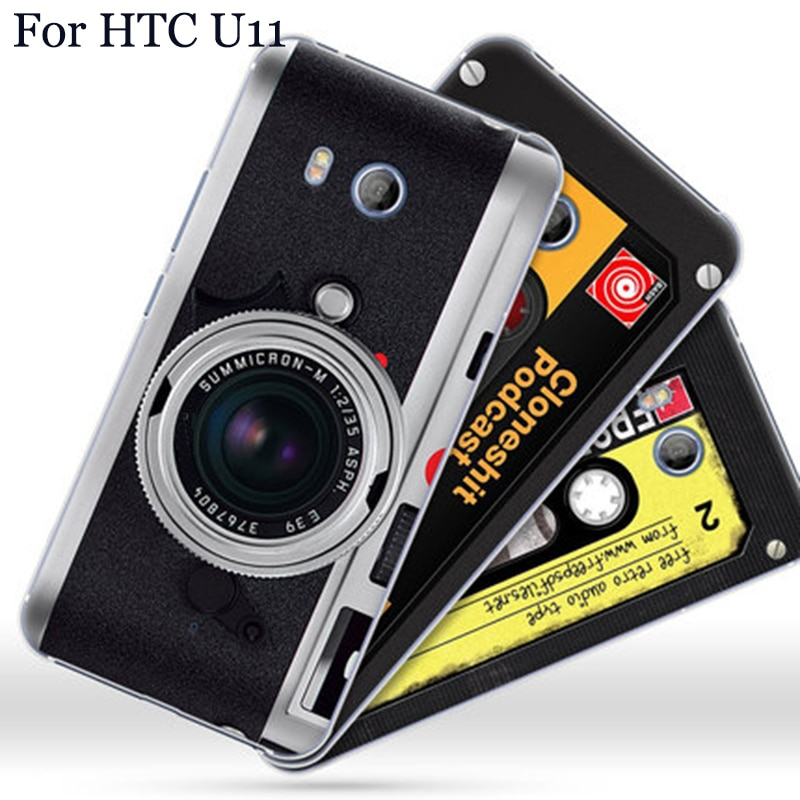 Para HTC U11 carcasa de moda vintage de dibujos animados funda de teléfono duro para HTC U 11 contraportada para HTC U 1 1 fundas capas