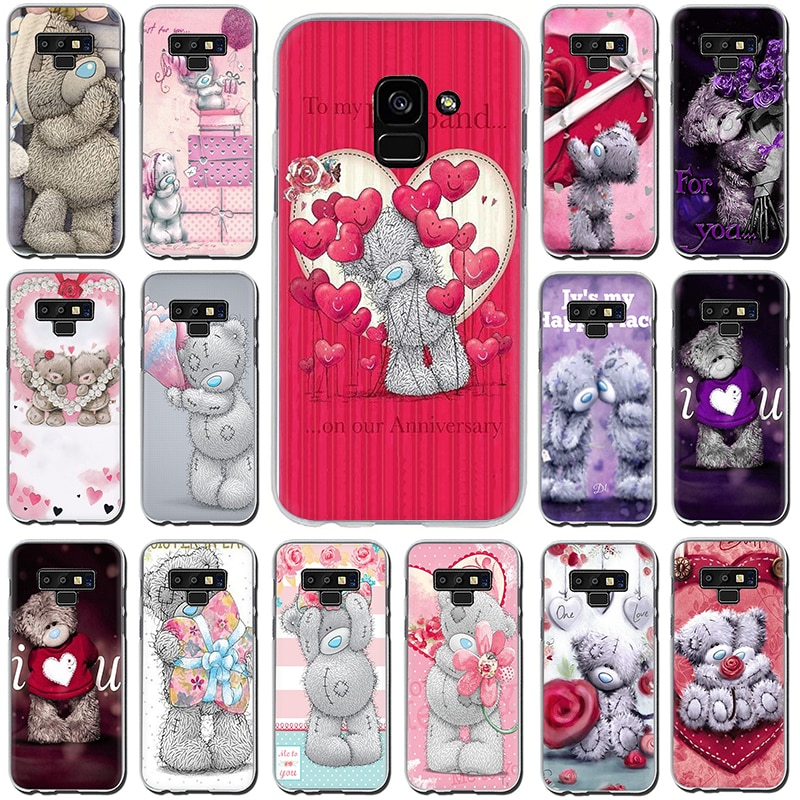 Teddy Me oso de peluche caja del teléfono duro para Samsung A5 A7 A9 A6 A8 más A10s 20s 30s 40s 50s 60 70