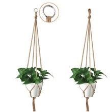 Vintage Macrame Plants Hanger Hook Flower Pot Holder Legs String Hanging Rope Wall Art Home Garden Balcony Decoration