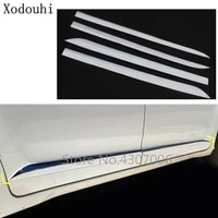 car styling side door trim strip molding abs chrome stream lamp panel bumper hoods for toyota sienna 2015 2016 2017 2018