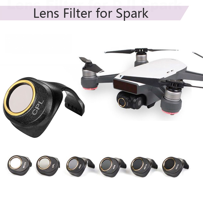 Filtro de lente de cámara CPL MCUV ND4 ND8 ND16 ND32 filtros para DJI SPARK Drone de inspección automática accesorios protector de HD para DJI SPARK