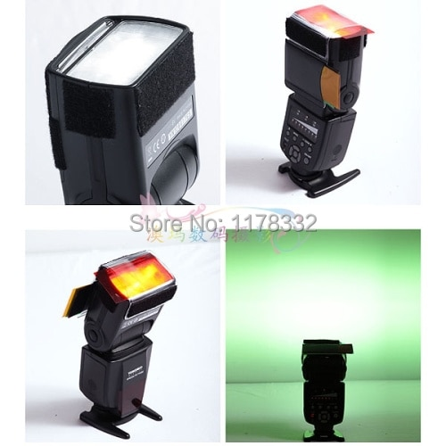 Filtro para Canon para Nikon Strobist Flash Color Cartão Difusor Iluminação Gel Pop up Yn560 Yongnuo Yn600ex-rt iv Yn568ex 12 Pcs