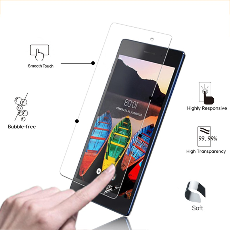 "Película protectora de pantalla de brillo muy transparente para Lenovo Yoga Tablet 10 HD + B8080, protector de pantalla HD lcd de 10,1 "", películas y herramientas"