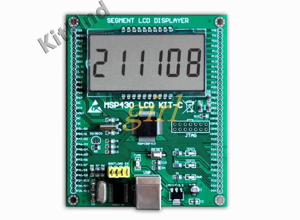 لوحة تطوير MSP430 430 LCD ، لوحة تعلم مقطعية MSP430F413 ، كريستال سائل ، بدون طلب ، تنزيل ، MSP430F413