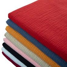 Robe en tissu Double coton et lin pour bébé   En tissu doux, en crêpe de bambou, vêtements de mode, matériel de couture artisanal, bricolage, 130*50cm
