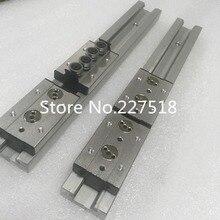 2pcs Double axis roller linear guide SGR20 L1200mm +4pcs SGB20UU block multi axis core linear Motion slide rail auminum guide
