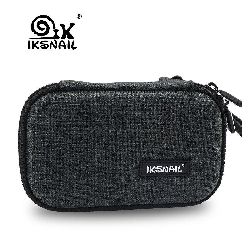 IKSNAIL водонепроницаемый электронный органайзер USB кабель для наушников провод банк питания батарея чехол для хранения комплект чехол Цифров...