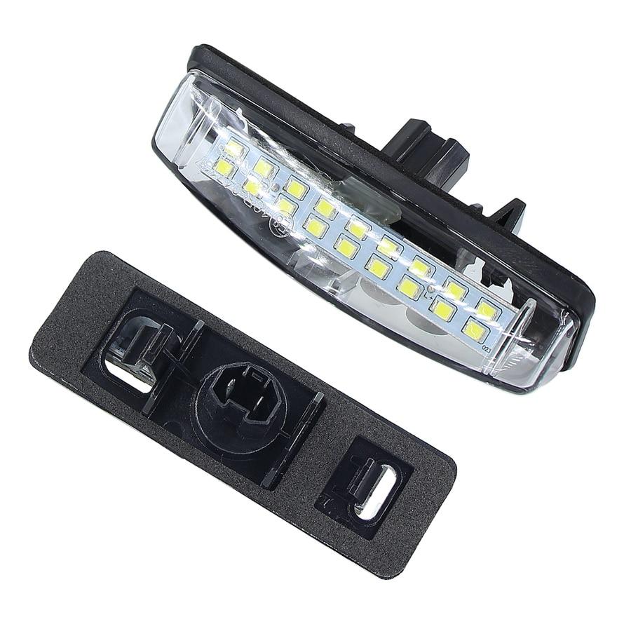 2 pces canbus nenhum erro luzes da placa de licença para mitsubishi colt mais grandis 2003 oem oem # 8127130290 lâmpada número