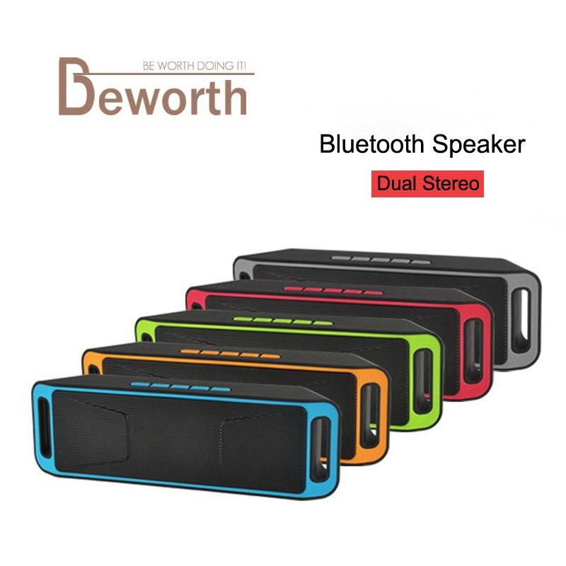 SC208 Bluetooth 4,0 altavoz TF tarjeta SD USB FM Radio construido micrófono Super doble estéreo Caixa De Som caja De sonido Subwoofer Inalámbrico
