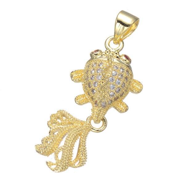 ¡Producto en oferta! Accesorios para collar, colgante de Zircinia cúbica, joyería de lujo para mujer, 2018 para collar de cadena colgante con forma de pez, 5 unids/lote