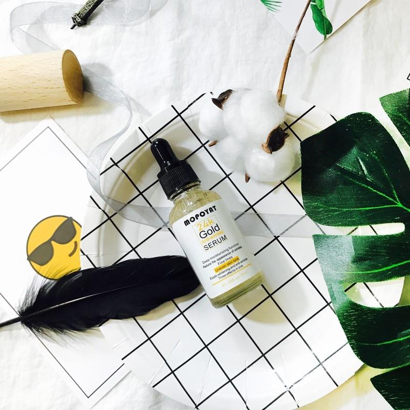 Péptido de oro 24K suero Anti-envejecimiento Facial Anti-arrugas hidratante brillo esencia