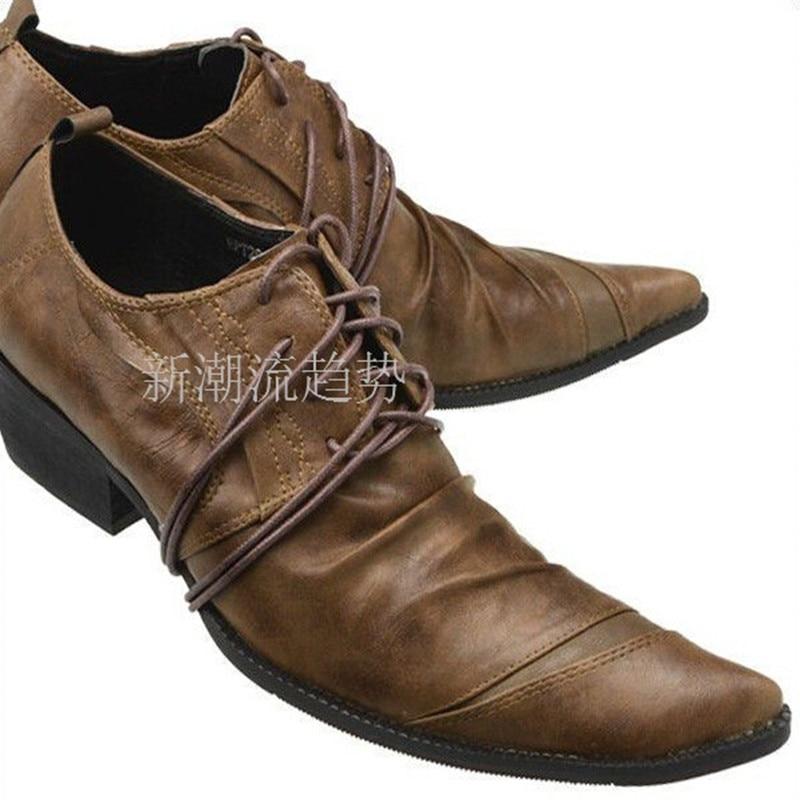 حذاء أكسفورد من جلد التمساح الإيطالي للرجال ، كعب عالي ، برباط ، حذاء رسمي ، يدوم طويلاً