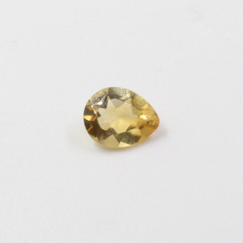 6mm*8mm VVS grade natural citrine loose gemstone for jewelry DIY 100% real pear cut citrine gemstone beads