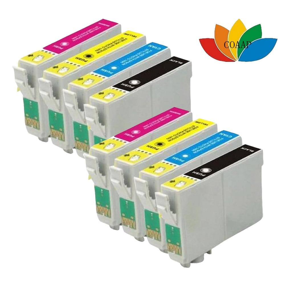 8x cartucho de tinta Compatible para STYLUS SX235W S22 SX125 SX130 SX420W SX425W SX435W SX445W con chip