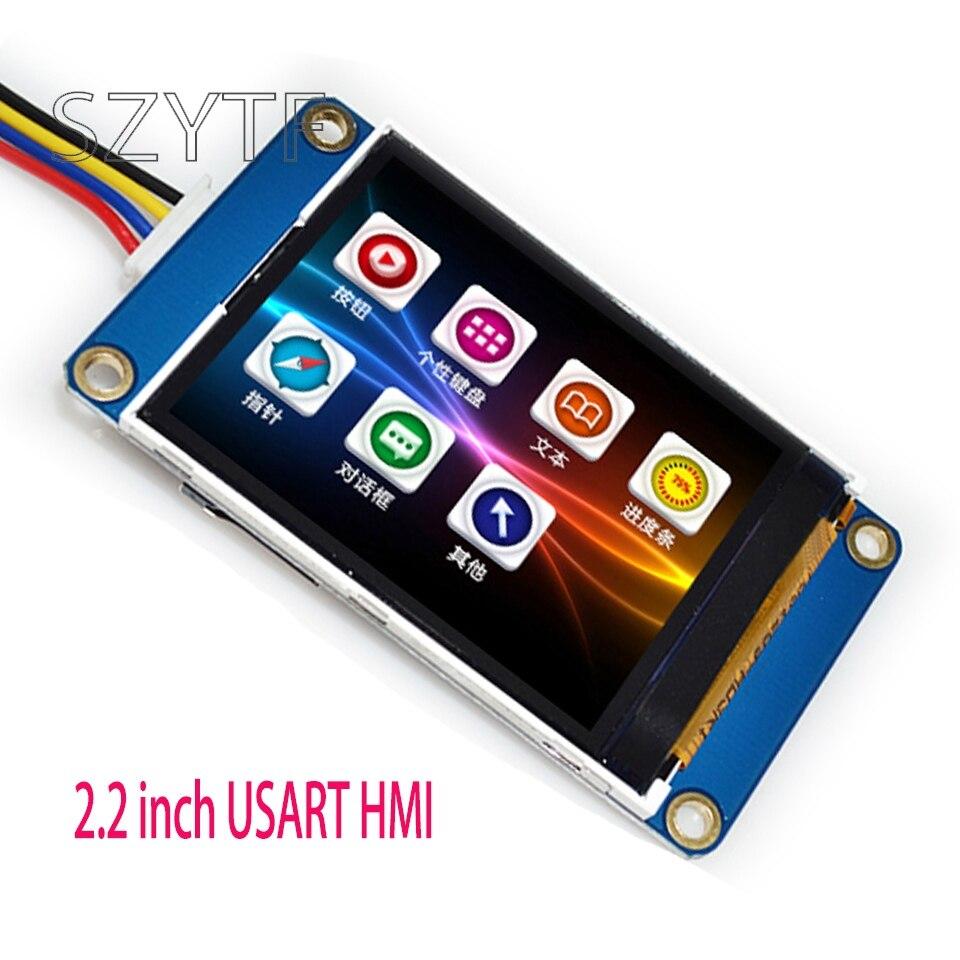 1pcs 2.2 inch USART HMI  screen integrated serial Smart character GPU TFT LCD Module 240 * 320