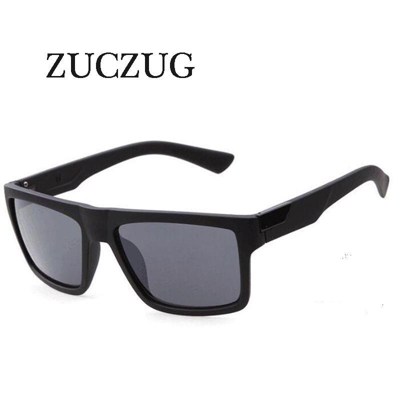 ZUCZUG gafas de sol cuadradas Retro Para hombres y mujeres, marca de diseñador, gafas de sol con revestimiento reflectante, gafas de sol cuadradas, gafas de sol masculinas UV400