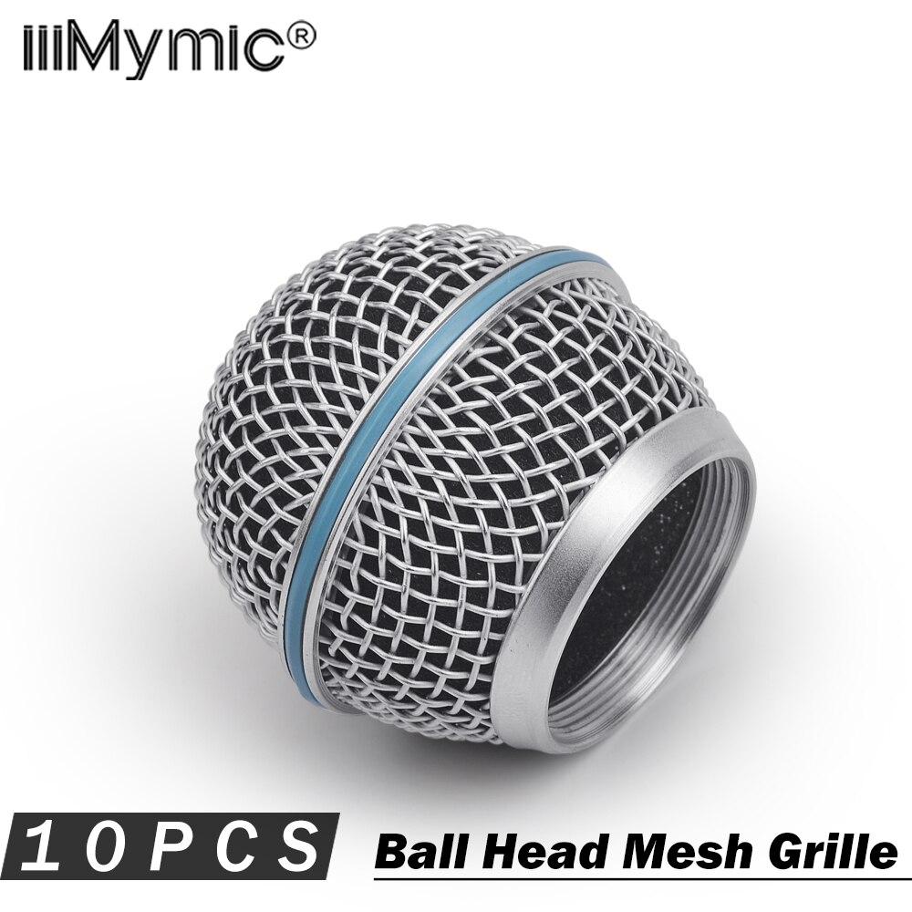 10 قطعة أعلى جودة استبدال الكرة رئيس شبكة ميكروفون مصبغة ل شور BETA58 BETA58A SM58 SM58S SM58LC اكسسوارات