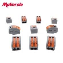 Makerele-connecteur de fil série 222 10 pièces   Ressort de Cage, conducteurs de câblage rapide universels, bornier, livraison gratuite en chine