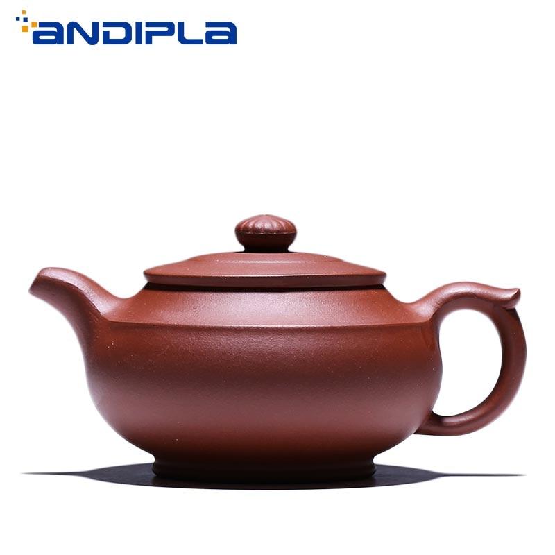 350cc Authentic Yixing Teapot Ya Yuan Pot Handmade Brew Tea Maker Pot Health Purple Clay Vintage Kung Fu Tea Set Tea Pot Kettle