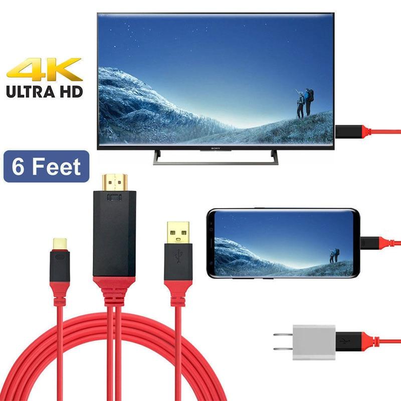 USB 3,1 tipo C a HDMI compatible con HD 1080P HD 4K...