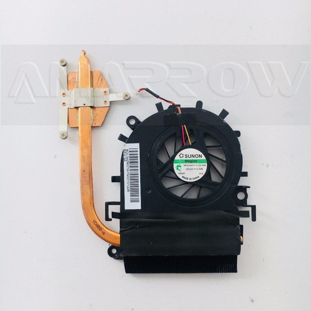 Оригинальный Бесплатная доставка ноутбук процессор радиатор вентилятор охлаждения для acer E732 E732G