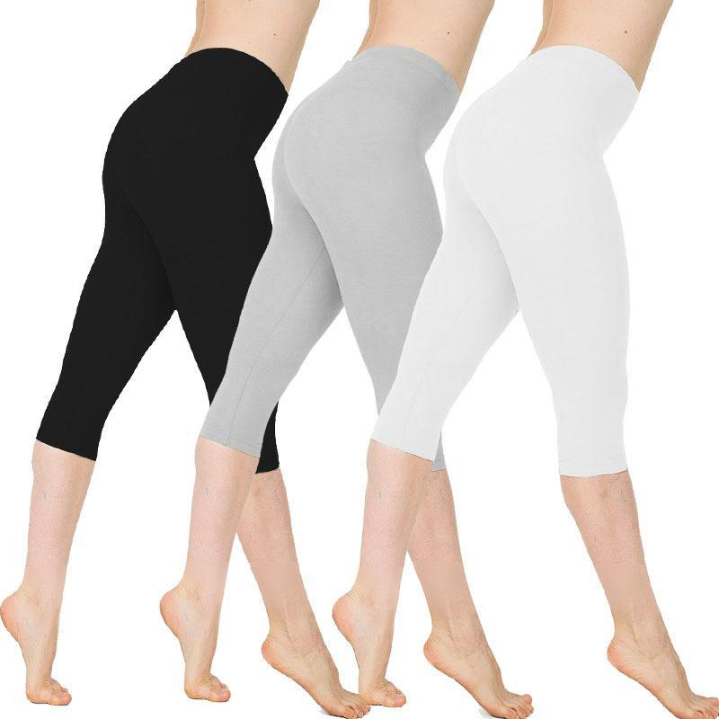 Leggings women cotton High Quality pants Fitness Breathable High Waist Sport Workout Elastic Slim Pants Plus Size Femme Push Up