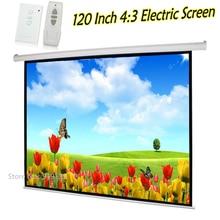 Écran de Projection automatique Beamer 120 pouces écran de Projection électrique cinéma 3D 43 meilleur prix pour le bureau de lécole