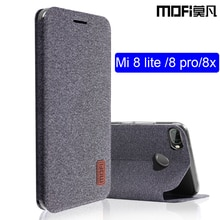 Xiaomi mi 8 lite case flip cover silicone stof xiaomi mi 8 lite mi 8 x case capas kickstand MOFi originele xiaomi mi 8 pro case
